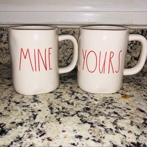 MINE & YOURS RAE DUNN VALENTINE MUGS